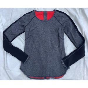 Lululemon Red Gray Reversible Shirt M